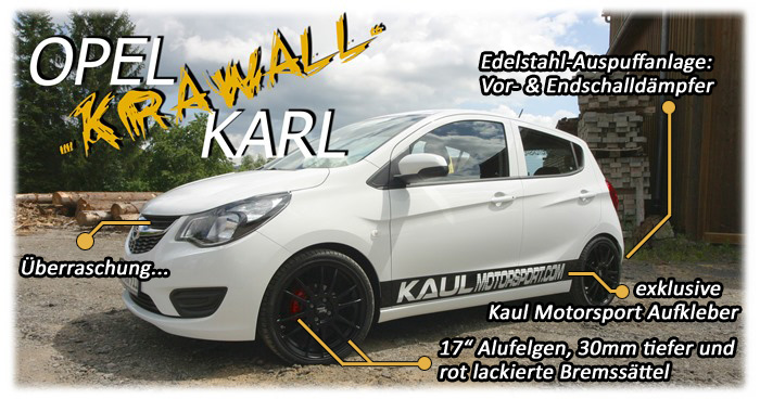 opel karl und opel mokka tuning bei kaul motorsport. Black Bedroom Furniture Sets. Home Design Ideas