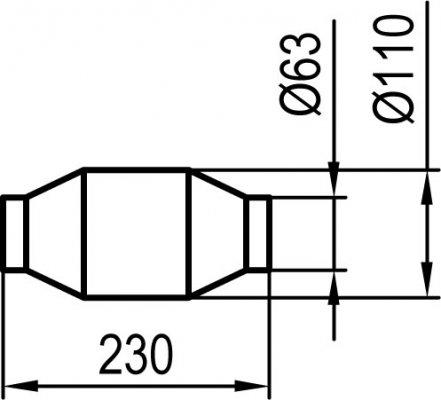 uni metallkat 200 zellen l nge 230mm anschluss 62mm. Black Bedroom Furniture Sets. Home Design Ideas